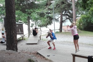 Swedish people working out, personal training