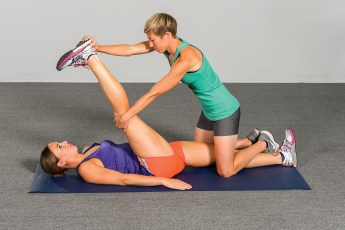 Hold-relax PNF stretching technique