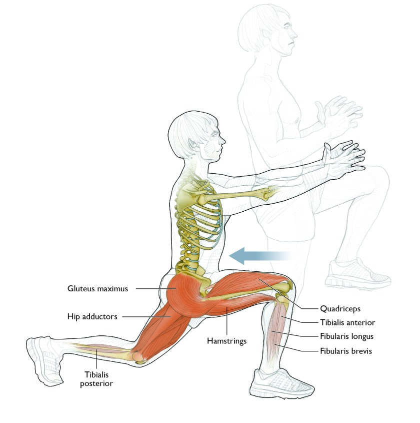 Strength exercises for golf: Knee-Up Reverse Lunge