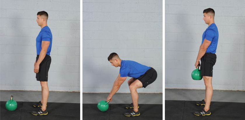 Kettlebell Deadlift, kettlebell exercise