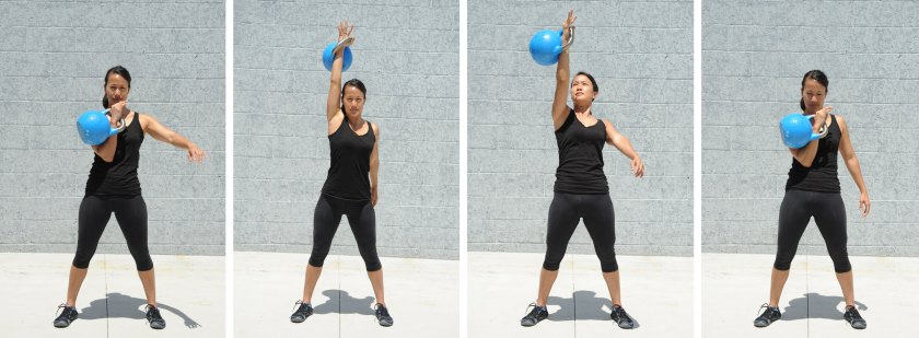 Single press, kettlebell exercises for fat loss