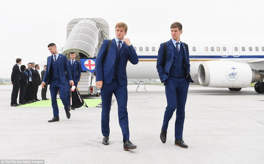 England footballers travel in day overcome jet lag