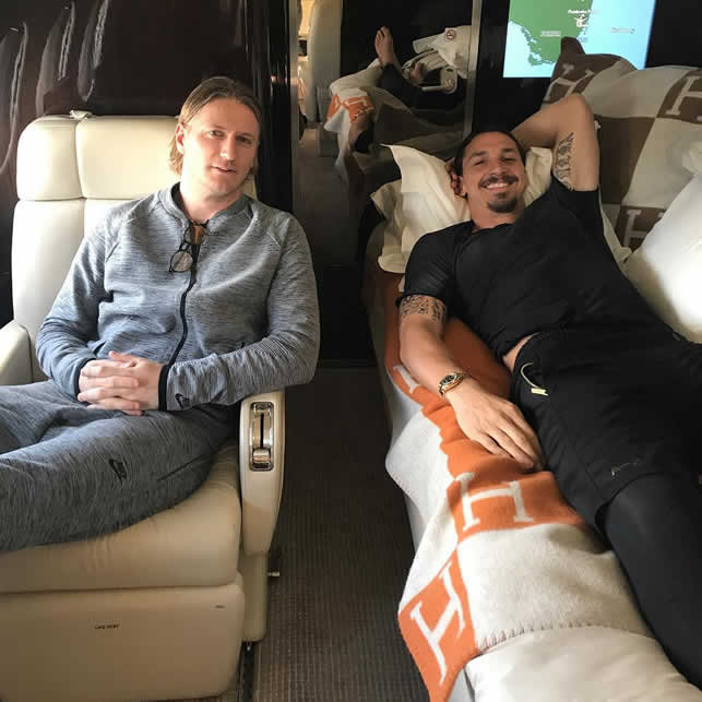 athletes relax on flight