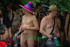 Londons Naked Cycle Ride 2016