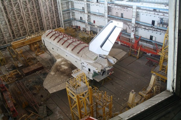 2 Space Shuttles found abandoned in a Russian hangar at
