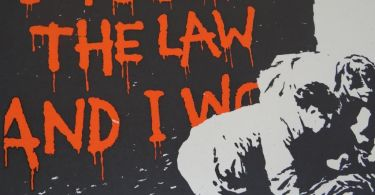 Banksy art - I fought the law