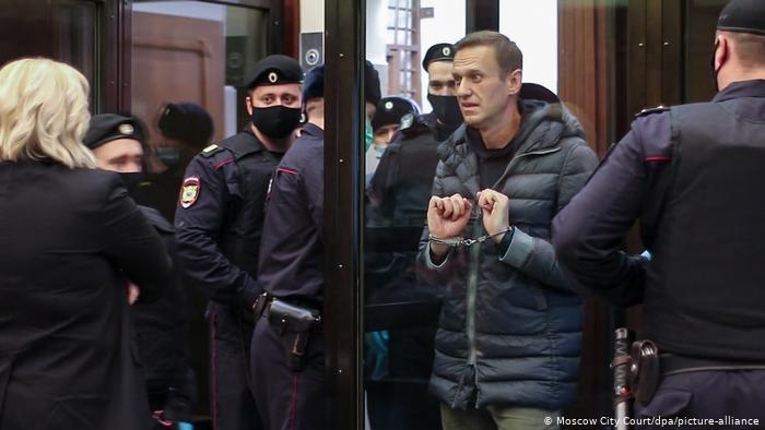 Alexy Navalny taken into court for his hearing