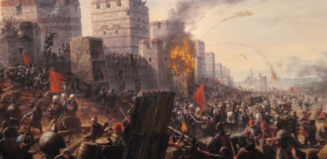 painting of the fall of constantinople