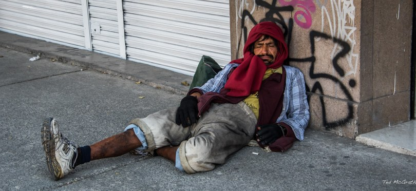 homeless man in mexico