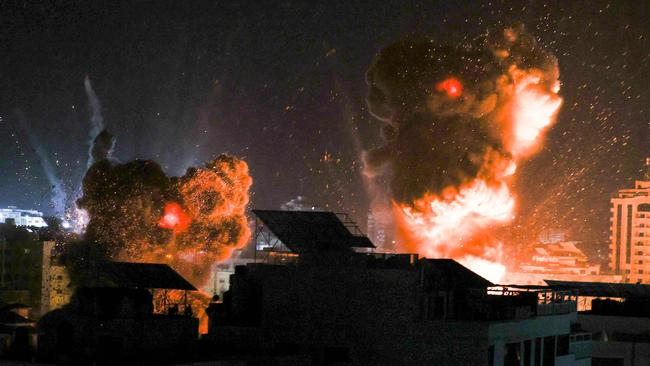 two nighttime explosions in Gaza