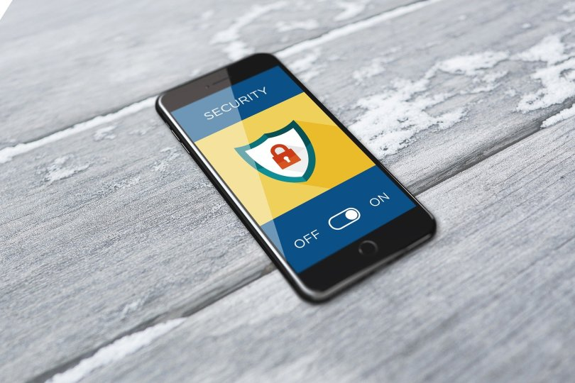 mobile phone with security on screen