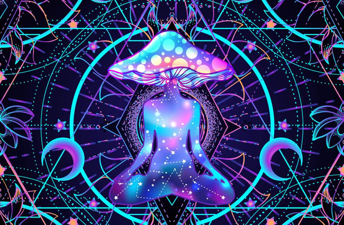 Psychedelic-seamless-pattern-with-magic-mushrooms-over-sacred-geometry