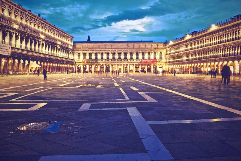 A relatively empty Piazza San Marco