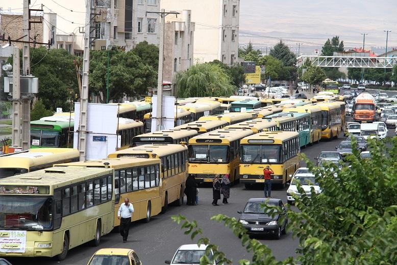 اعتصاب رانندگان اتوبوس زنجان 1