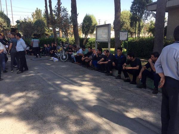 تجمع اعتراضی کارگران شرکت حمل و نقل خلیج فارس