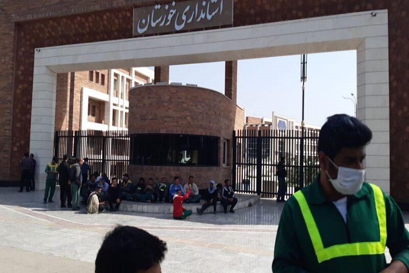 کارگران شهرداری منطقه 8 اهواز