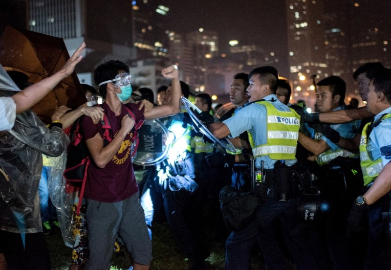 Occupy Central in Hong Kong. By Alex Ogle / Agence France-Presse