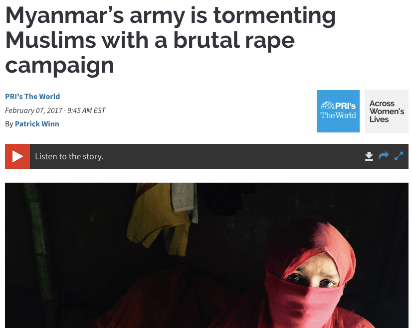 Myanmar's army is tormenting Muslims with a brutal rape campaign