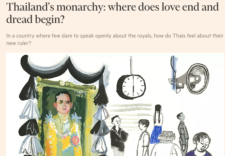 Thailand's monarchy: where does love end and dread begin?