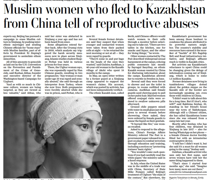 Abortions, IUDs and Sexual Humiliation: Muslim Women Who Fled China for Kazakhstan Recount Ordeals