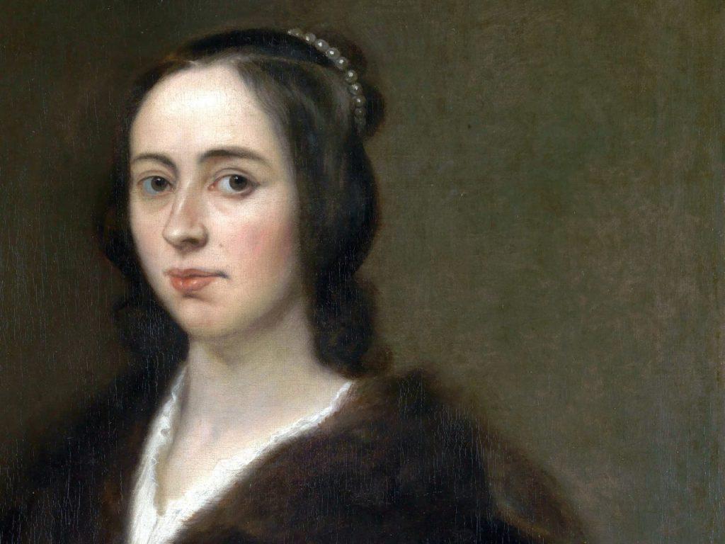 Afbeelding van Anna Maria von Schurman, de eerste vrouw die studeerde aan de universiteit. Voor internationale vrouwendag 2020 op 8 maart, er is dan een stadswandeling over beroemde vrouwen uit Utrecht.