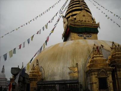 September: Swayambhunath temple, Kathmadu, Nepal