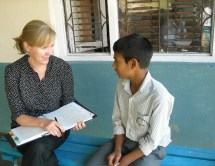 September: Interviewing students at the Sankhu-Palubari Community School in Nepal