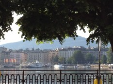 May: Lac Leman, Geneva, Switzerland