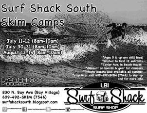 2013 Surf Shack South Skim Camp flyer