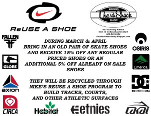 2013 Spring Shoe Recycle promo