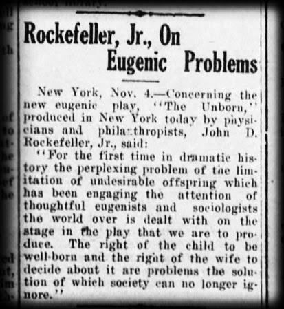 Rockefeller Eguenics