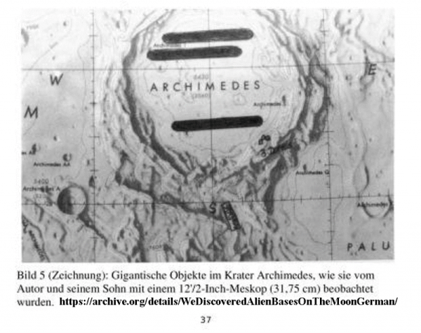 On The Crater Field Of Archimedes Were Three Cigar Shaped Objects