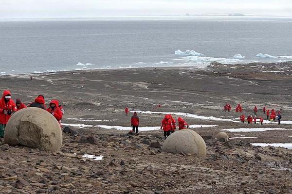 Mysterious Stone Spheres Arctic Island 12
