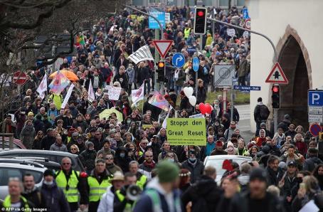 protestos contra bloqueio da Alemanha Central