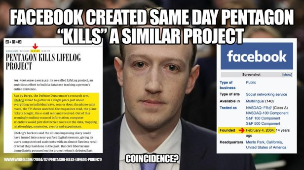 darpa shut down same day facebook launch date