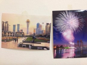 Postcards brought from Kazakhstan