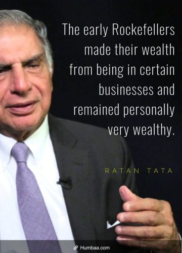 The early Rockefellers made their wealth from being in certain businesses and remained personally very wealthy.