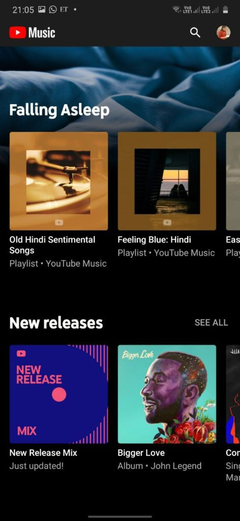 Youtube Music App.
