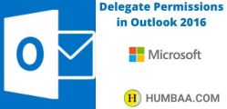 Delegate Permissions in Outlook 2016