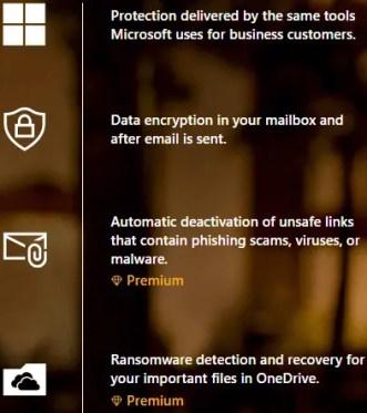 Microsoft security feature