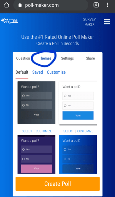 Poll Maker themes