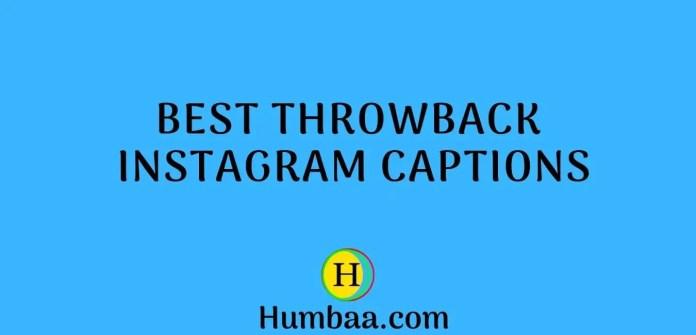 Best Throwback Instagram Captions