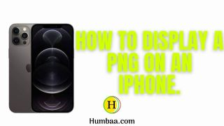 How to display png on iphone.