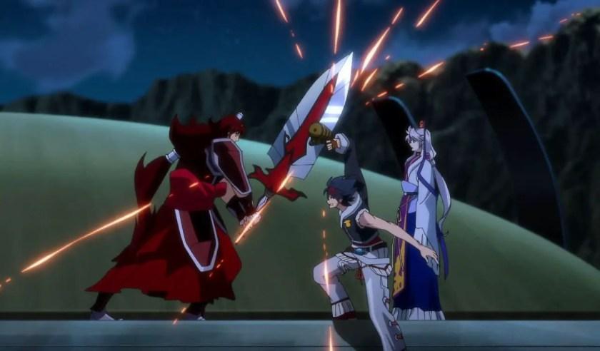 Arrow Blocks Kai's Attack.