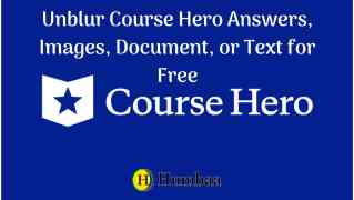 Unblur course hero answers for free