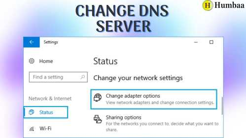 Change In DNS Server