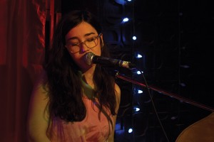 Emma Hewson, performing a solo set at The Central in Mirvish Village, Friday January 24th, 2014. Photo by Nick Jean