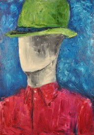 Steve Marriott / The Spy in the Green Hat (2015) / Oil on Canvas / Size to be provided