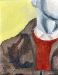 Steve Marriott / Waiting (2015) / Oil on Canvas / 4 x 5 inches