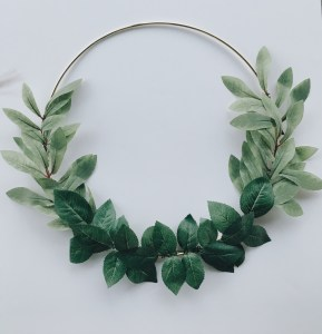 Layer the leafy foliage onto the ring